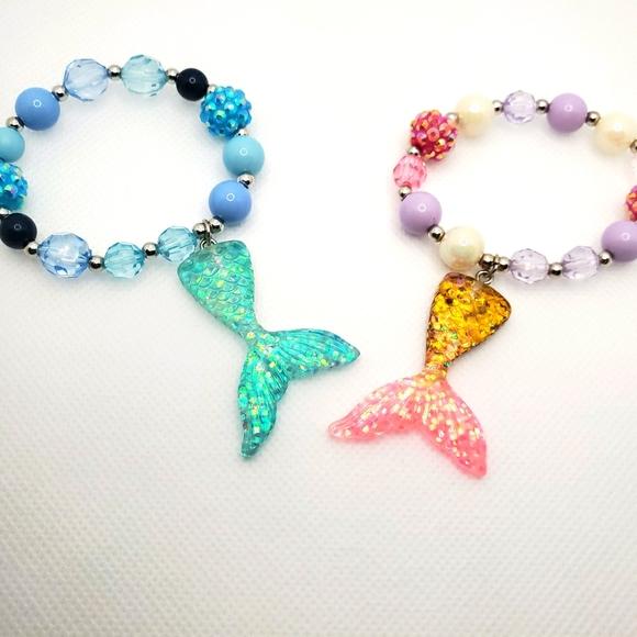 Mermaid bracelet set of 6!